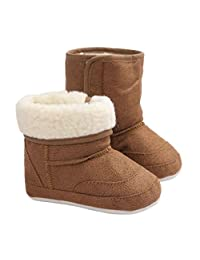 AMA(TM) Toddler Baby Girl Boy Snow Boots Soft Sole Crib Shoes Prewalker