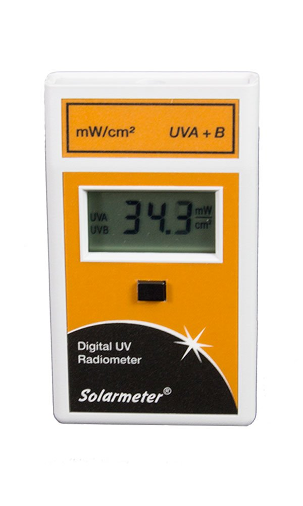 Solarmeter Model 5.0 Standard Total UV Meter - Measures 280-400nm with range from 0-199.9 mW/cm² Total UV by Solar Light Company, Inc