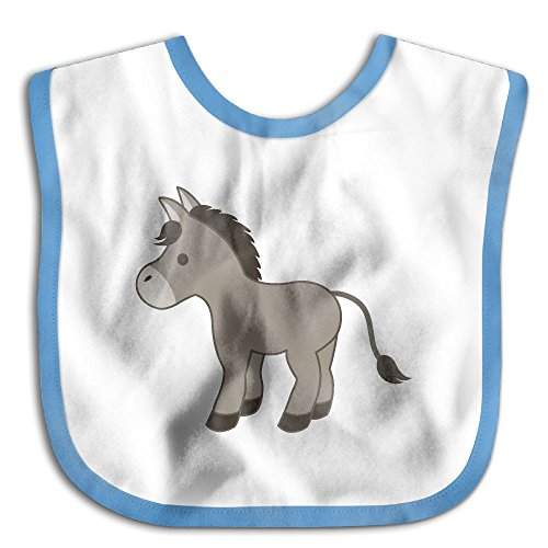 Cartoon Donkey Infant Toddler Bibs Super Absorbent Cute Design Baby Bib Funny Baby Shower - (Donkey Rocker)
