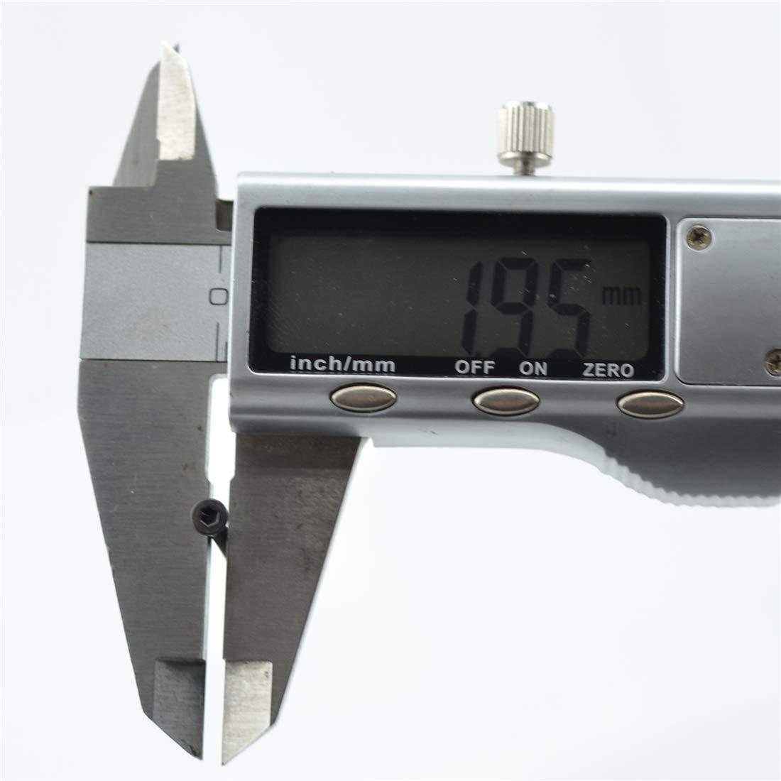 20PCS M2 25mm Grade 12.9 Alloy Steel Flat Hex Socket Head Cap Black Oxidation Screws 20, M2 25mm