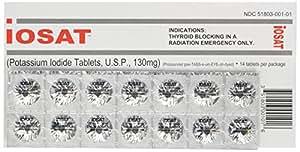iOSAT Potassium Iodide Tablets, 130 mg (14 Tablets)