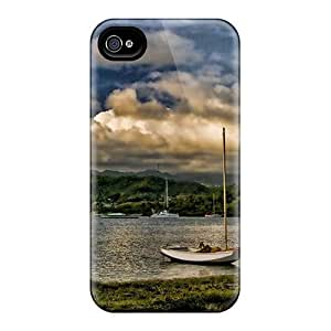 Protection Case For Iphone 4/4s / Case Cover For Iphone(harbor At Hog Isl In Grenada Hdr)