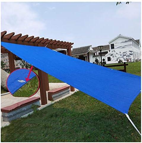 KKCF オーニング シェード、遮光ネット防水 通気性 水がたまりません クールダウン アウトドア パティオ HDPE、青、カスタマイズ可能 サイズ (Color : Blue, Size : 4x6m)