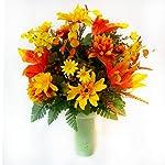 Designs-by-Ellis-Fall-Yellow-Orange-Mums-Cemetery-Cone