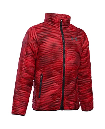Under Armour Boys' ColdGear Reactor Jacket, Red (600), Youth X-Small