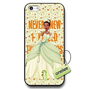 Disney Cartoon Princess and the frog Hard Plastic Phone Case & Cover for iPhone 5c - Disney Princess Tiana iPhone 5c Case - Black