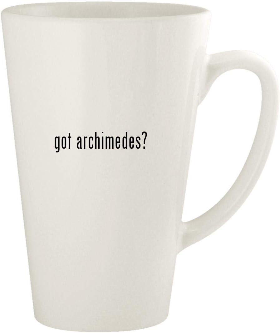 got archimedes? - 17oz Ceramic Latte Coffee Mug Cup, White