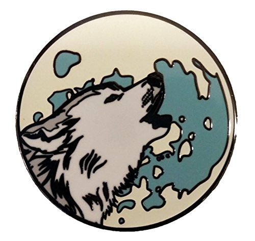 White Wolf Howling At The Moon, Glow In the Dark 1.25