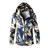Faionny Mens Jacket Long Sleeve Coat Casual Outwear Camouflage Hoodie Winter Sweatshirt