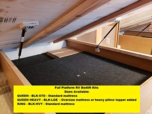 Hatchlift Products RV Bedlift Kit - King - Heavy King/Particle Board Deck (Hydraulic Bed Lift)