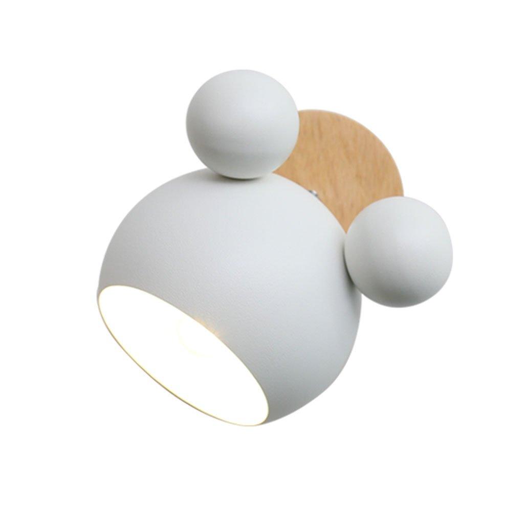 Unbekannt HUYP Schlafzimmer Nachttischlampe Nette Persönlichkeit Wohnzimmer Kinderzimmer Wandleuchte (Farbe : Weiß)