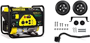 Champion Power Equipment 100307 4375/3500-Watt Dual Fuel RV Ready Portable Generator & olding Handle and Never-Flat Tires for Champion 2800 to 4750-Watt Generators