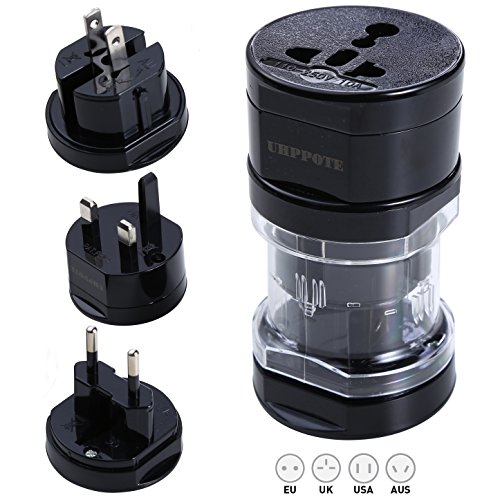 Generic UK US AU EU Plug World International Universal Travel AC Adaptor Power - Indio Outlets Ca In