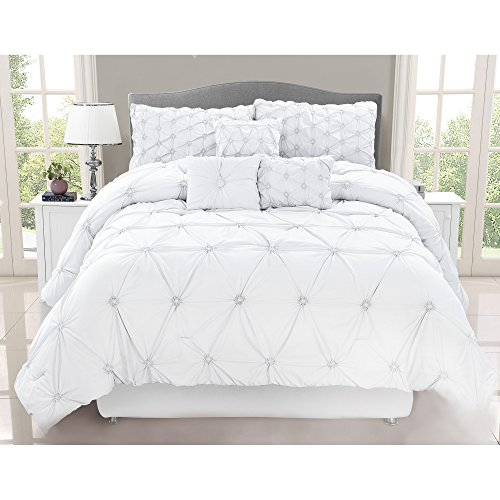 Safdie & Co. Collection Chateau 7 Piece Comforter Set, Full/Queen, ()