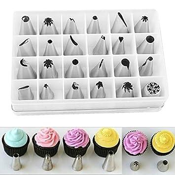 100 Spritzbeutel 52 Garniertülle Spritztüllen Tüllen Blumennagel Set Torte Deko