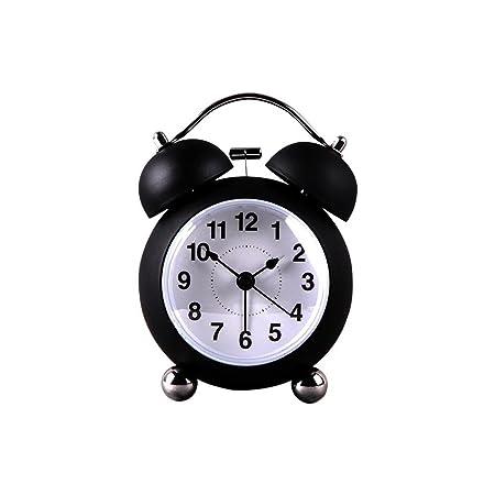 DXNSPF Reloj despertador de doble Campana analógico Mesa Vintage ...