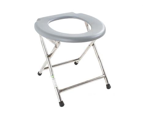 SOUMAO Simples sillas plegables portátiles WC WC para ...