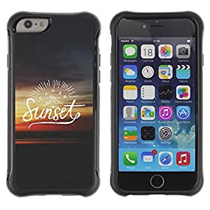 """All-Round Hybrid Rubber Case Hard Cover Protective Accessory Compatible with Apple iPhone 6PLUS ¡ê¡§5.5"""") - text summer quote dark red"""