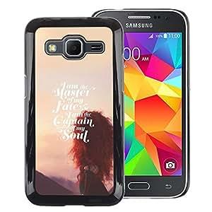 A-type Arte & diseño plástico duro Fundas Cover Cubre Hard Case Cover para Samsung Galaxy Core Prime (Master Of Fate Soul Sunset Inspirational)