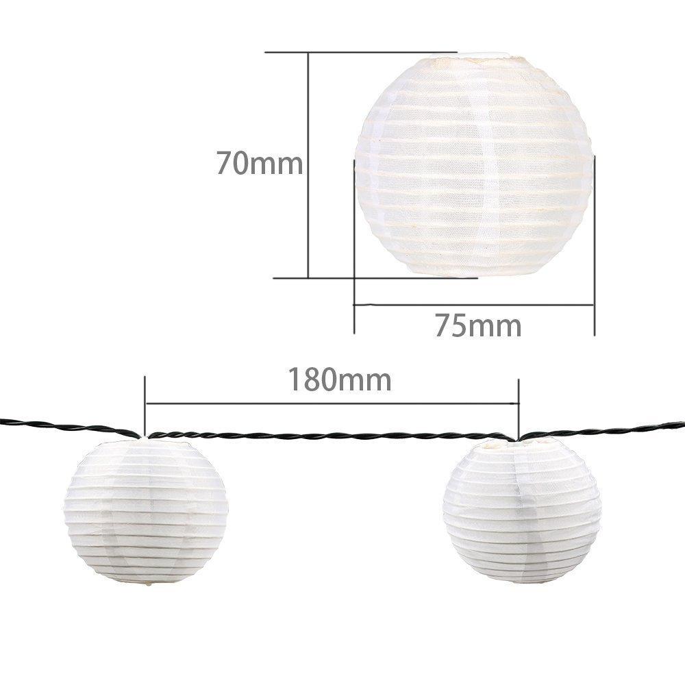 3M 20 LED Guirlande Lumineuse Lanterne Blanc Chaud Lumi/ère Decorative pour No/ël Balcon Lampion Batterie Exterieur Terrasse Jardin Mariage