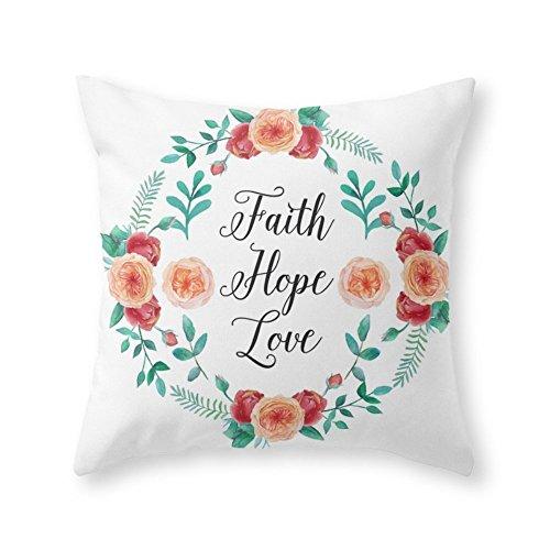 Society6 Faith, Hope, Love Throw Pillow Indoor Cover