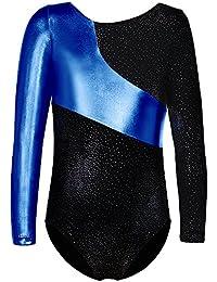 Leotards for Girls Gymnastics with Short Sparkly Unicorn Mermaid Biketards