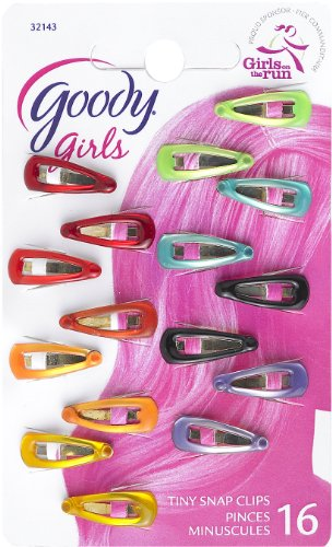 Goody Girls Mini Epoxy Contour Hair Clips, 16 Count (Pack of 3)