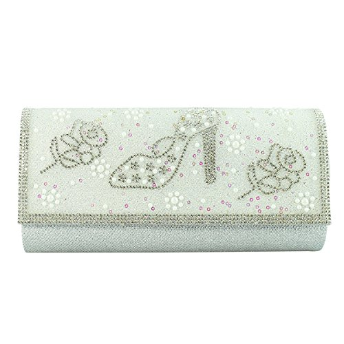 Roses Stiletto and Silver Evening Clutch R8vqnwp4v5