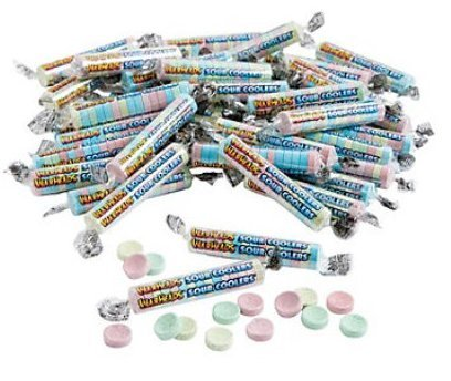Warheads Sour Coolers Wrapped Candy 5 Pounds Bulk