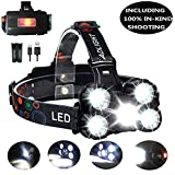 Head Torch Zoomable 10000LM 4 Modes 5LED...