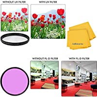 52mm All Purpose Fluorescent (FLD) Multi-Coated UV Filter and UV Protective All-Purpose Filter Combo for Panasonic HC-V720, Panasonic HC-V750, Panasonic HC-W850 and Panasonic HC-X900M Cameras
