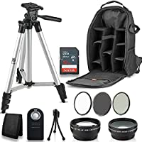 Professional 52MM Accessory Bundle Kit For Nikon D3300 D3200 D3100 D5000 D5100 D5200 D5300 D5500 D7000 D7100 D7200 & DSLR Cameras , 12 Nikon Accessories