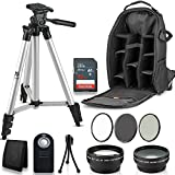 Professional 52MM Accessory Bundle Kit For Nikon D3300 D3200 D3100 D5000 D5100 D5200 D5300 D5500 D7000 D7100 D7200 & DSLR Cameras , 12 Accessories for Nikon