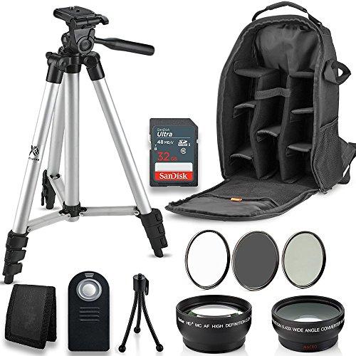 cessory Bundle Kit for Nikon D3300 D3200 D3100 D5000 D5100 D5200 D5300 D5500 D7000 D7100 D7200 & DSLR Cameras, 12 Accessories for Nikon ()