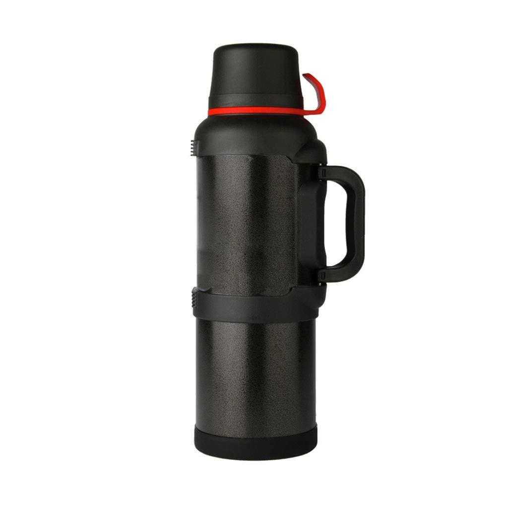 WLHW Trinkflaschen Isolierungs-Becher-Flaschentopf, 3.6-4L Ausgangsaußenauto-große Kapazitäts-beweglicher Reise-Edelstahl