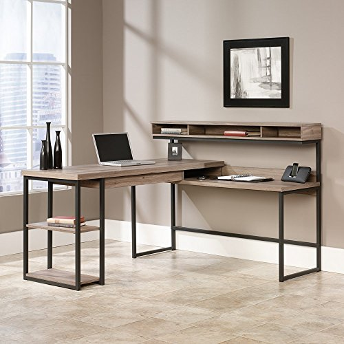 Sauder Transit L Desk in Salt Oak