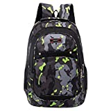 vermers Back to School Backpack for Teen Girls&Boys Fashion Casual Camouflage Printing Students Bags - Green