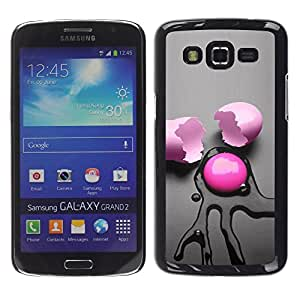 Design for Girls Plastic Cover Case FOR Samsung Galaxy Grand 2 Pink Egg Abstract OBBA