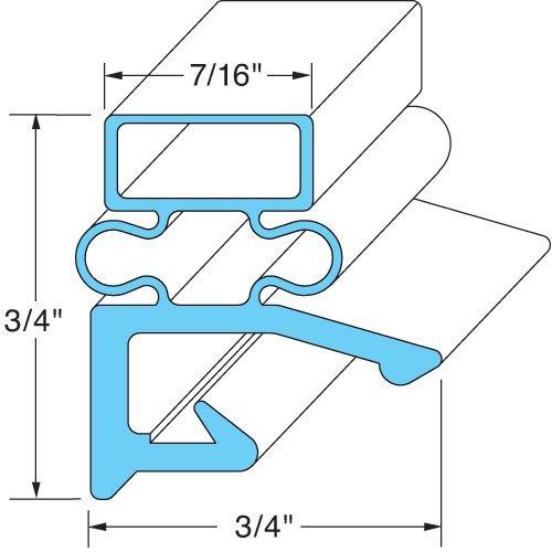 Hobart/Koch 268821-3 Magnetic Door Gaskets for Freezers/Coolers/Refrigerators 24-1/4 x 60-5/8 by Hobart/Koch by Hobart/Koch