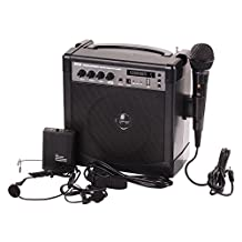 Pyle-Pro PWMA220BM Bluetooth Compact and Wireless Microphone PA Speaker System, Wired Handheld Mic