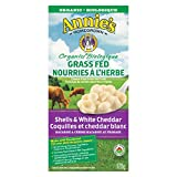 Annie's Homegrown Organic Grass Fed Shells and White Cheddar Macaroni and Cheese, 170 Gram