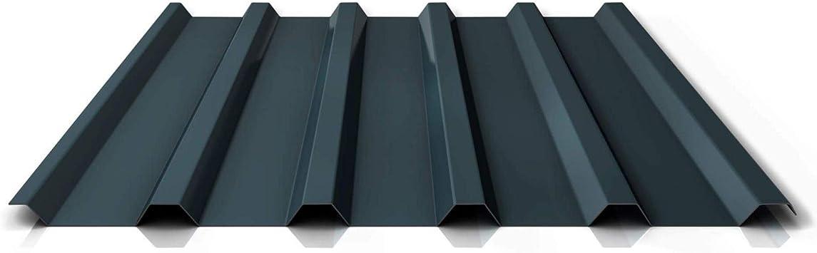 St/ärke 0,70 mm Beschichtung 25 /µm Profil PA35//1035TRA Dachblech Material Aluminium Trapezblech Farbe Anthrazitgrau Profilblech