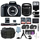 Cheap Canon EOS Rebel T7i Bundle With EF-S 18-55mm f/4-5.6 IS STM Lens + Canon T7i Camera Advanced Accessory Kit Includes EVERYTHING You Need To Get Started (20 Items – Value $100)