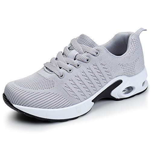 Women Running Shoes Air Cushion Mesh Comfortable Gym Casual Shoes Sneakers 6 M US(1859qianhui36)