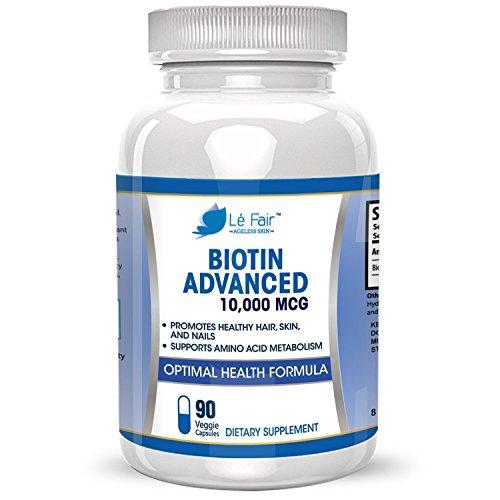Biotin Vegan Veggie Capsule Supplement - High-Potency Biotin 10,000mcg...