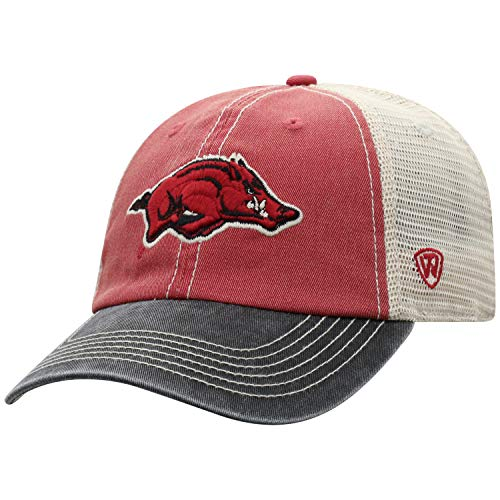 Top of the World Arkansas Razorbacks Men's Mesh-Back Hat Icon, Cardinal, Adjustable