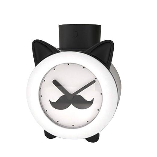 Reloj humidificador luz nocturna, 420 ml humidificador de tiempo ...