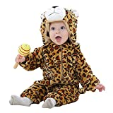 MICHLEY Hooded Baby  Girl Romper Winter and Autumn Flannel Jumpsuits Animal Cosplay Infant Toddler Costume baozi-80cm