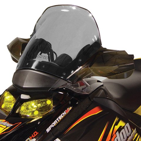 PowerMadd 13042 Cobra Windshield for Ski Doo Rev Fairing Mount -  Tinted with black edge - Tall height