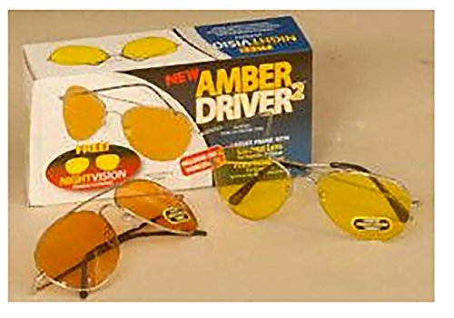 AmberDriver 2 w/ Bonus Nightvision - Tv On As Vision Sunglasses Seen Night